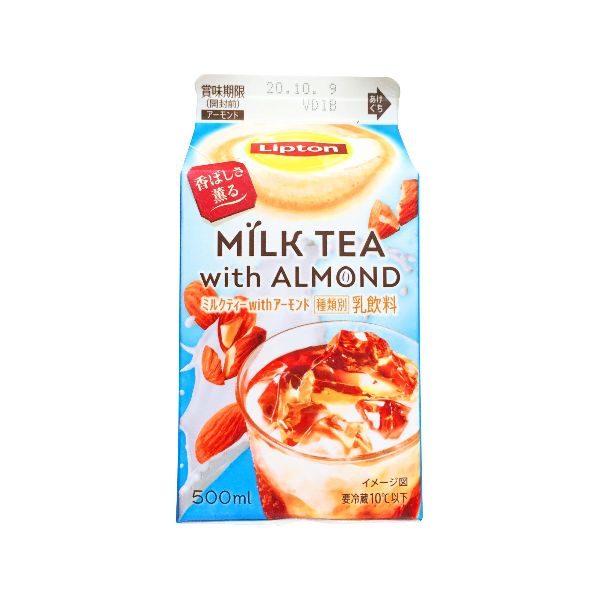 森永乳業『リプトン ミルクティーwithアーモンド』はアーモンドミルクの軽やかさでゴクゴク飲みたいミルクティー!アーモンドミルクの健康効果にも要注目◎