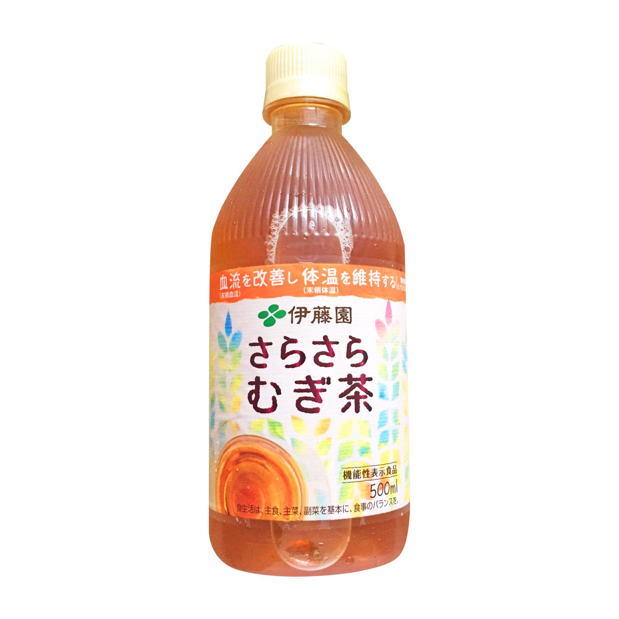 伊藤園『機能性表示食品 さらさらむぎ茶 PETボトル 500ml』は香ばしさと飲みごたえのある美味しい麦茶に身体に優しい機能もプラス!プライチお得情報も◎