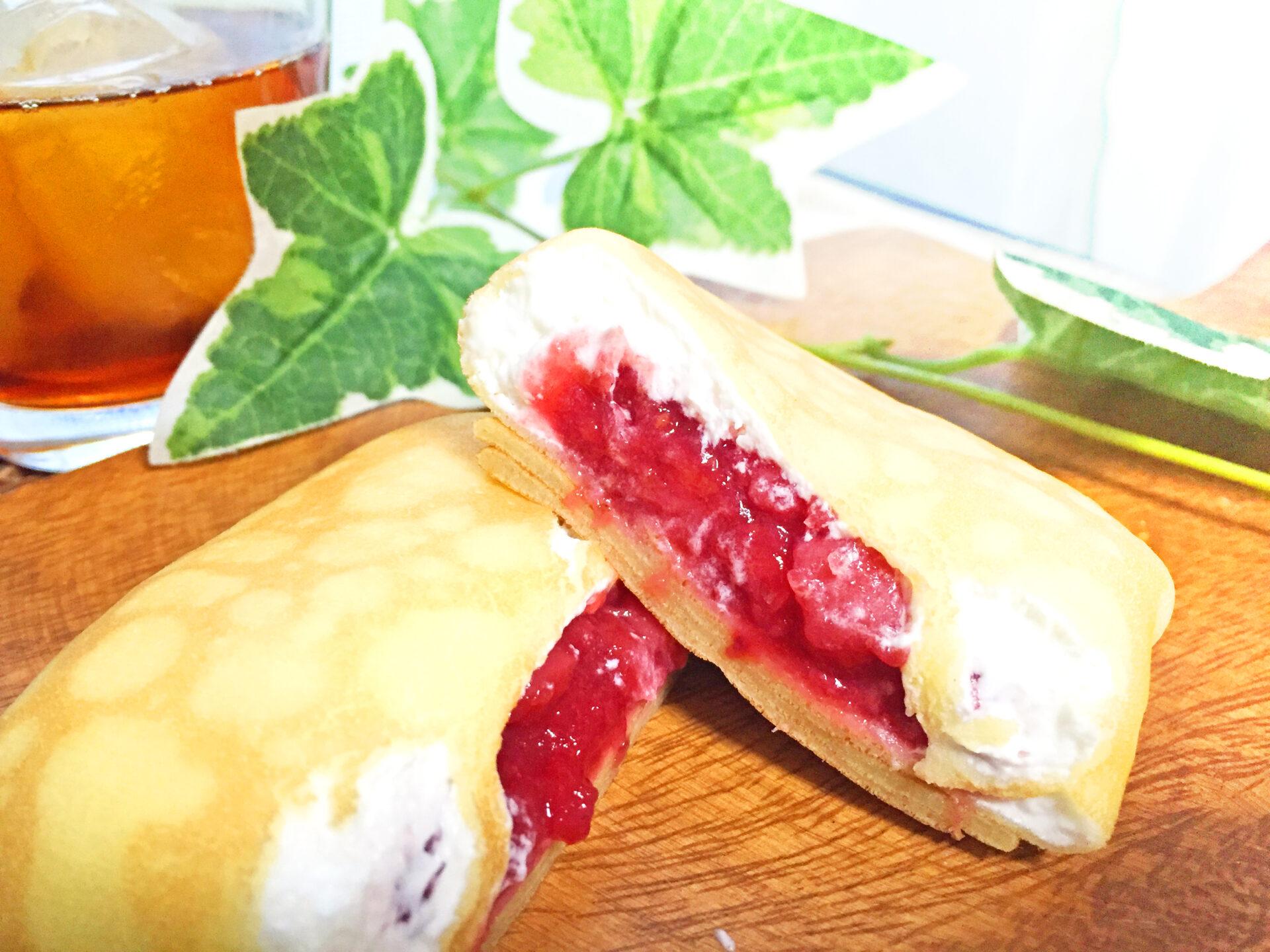 セブン−イレブン『クレープ苺ソース&ミルククリーム』