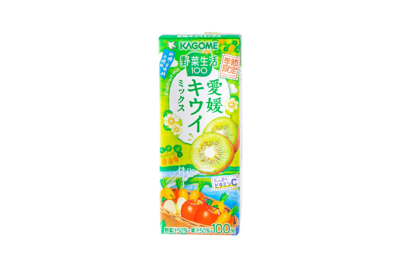 カゴメ『野菜生活100 愛媛キウイミックス』