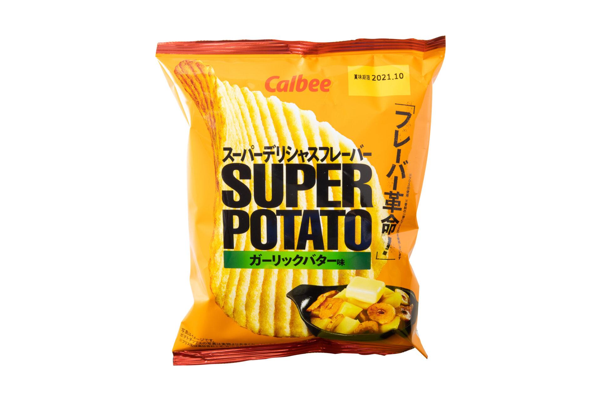 カルビー『スーパーポテト ガーリックバター味』