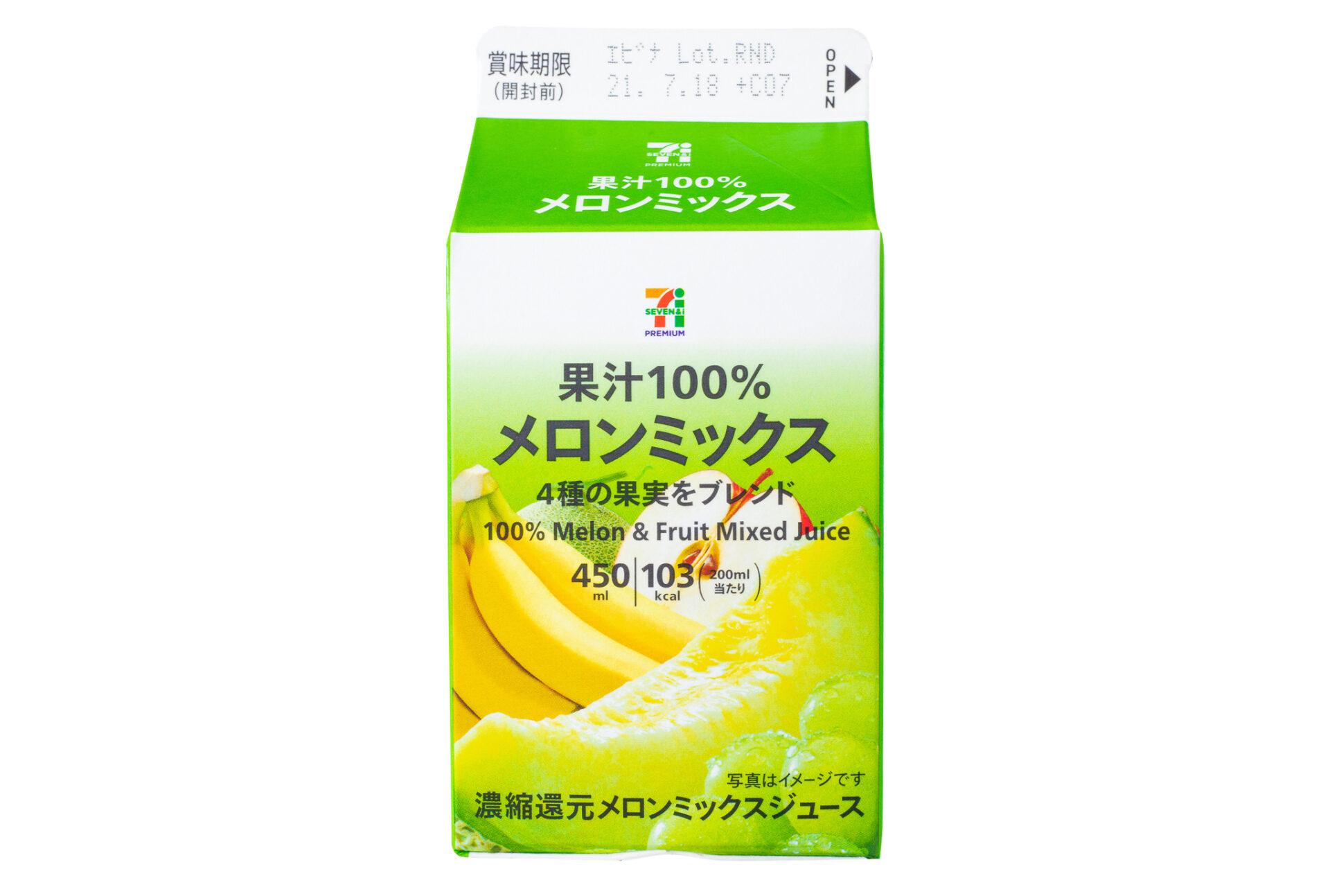 7プレミアム『メロンミックス果汁100% 450ml』