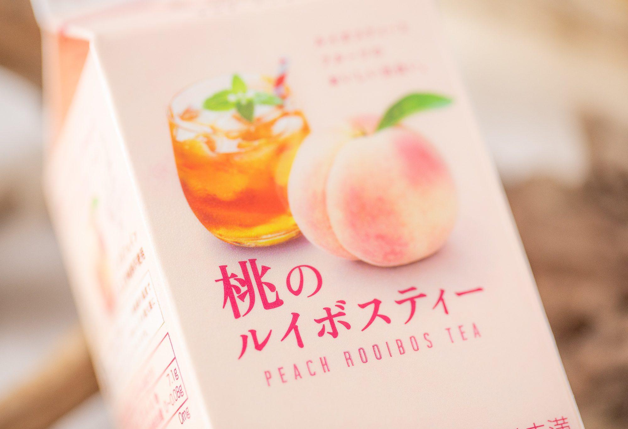 エルビー『&ROOIBOS 桃のルイボスティー』はルイボスティーらしい芳醇さと桃の優しい甘みが美味しい上品な仕上がりのフレーバーティー!