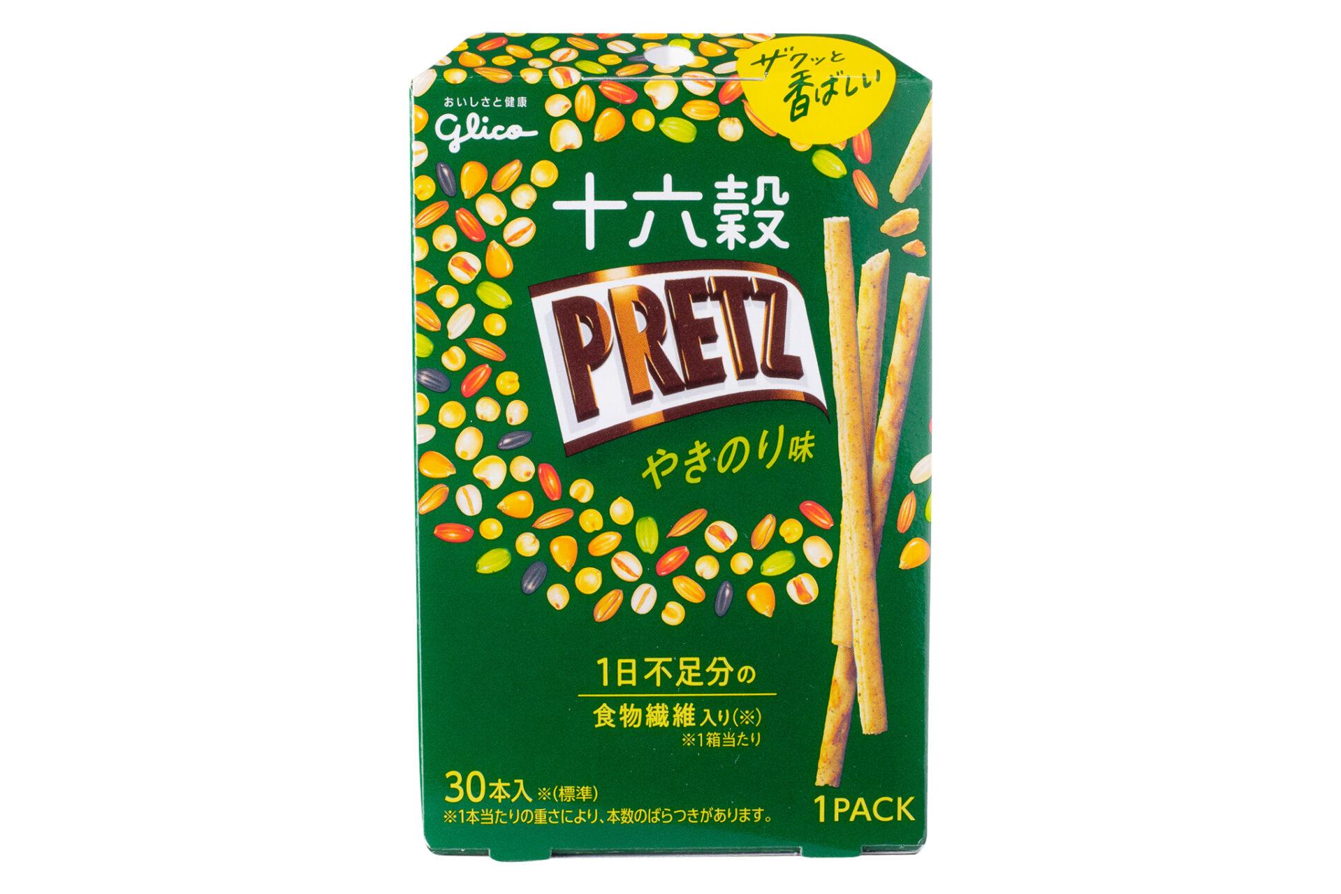 グリコ『十六穀プリッツ<やきのり味>』