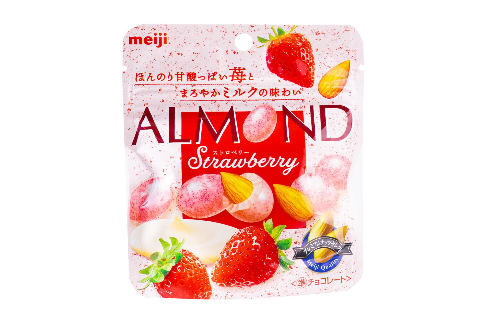 明治『アーモンドチョコレートストロベリー 47g』