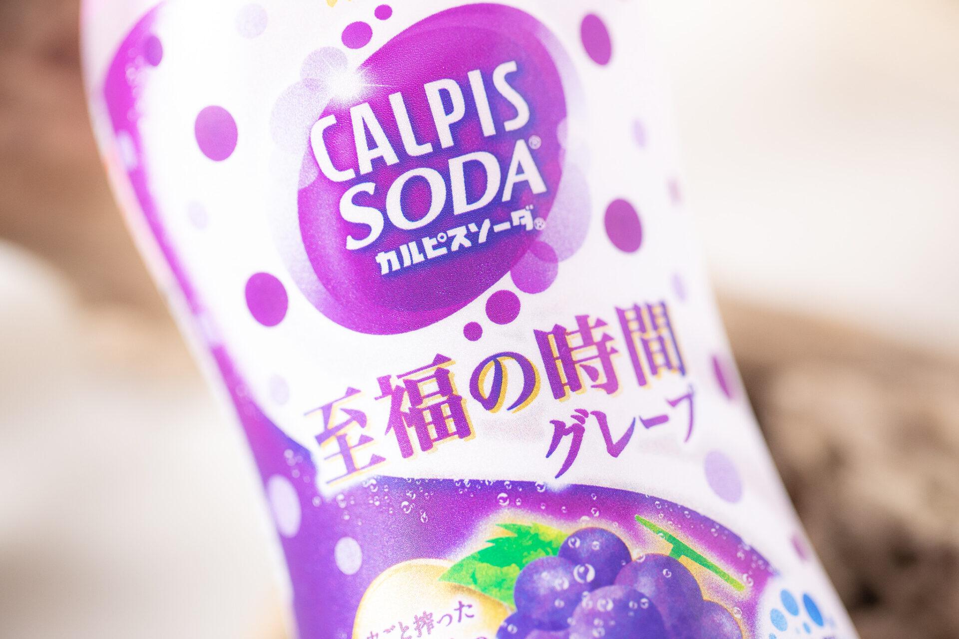 アサヒ飲料『「カルピスソーダ」至福の時間グレープ PET500ml』